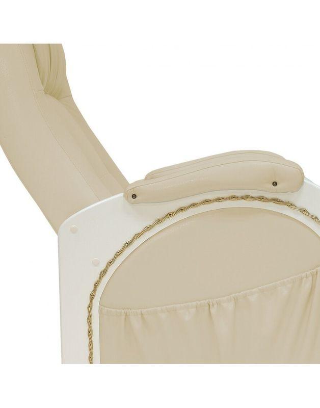 Кресло Impex Кресло-гляйдер Модель 48 экокожа сливочный (oregon 106) - фото 6