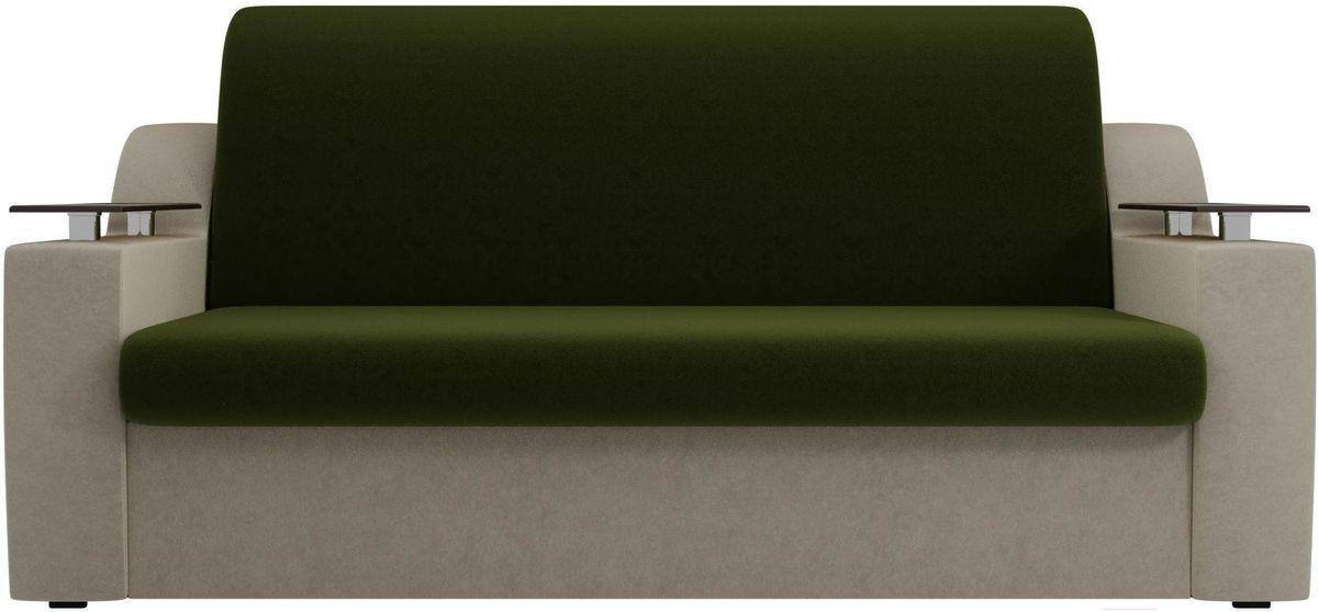 Диван Mebelico Сенатор 100711 160, микровельвет зеленый/бежевый - фото 1