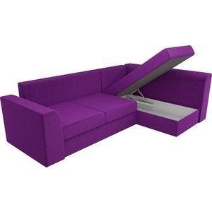 Диван ЛигаДиванов Пауэр угол правый вельвет фиолетовый - фото 3