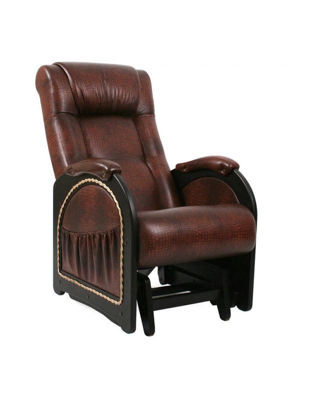 Кресло Impex Кресло-гляйдер Модель 48 экокожа (Антик-крокодил) - фото 2