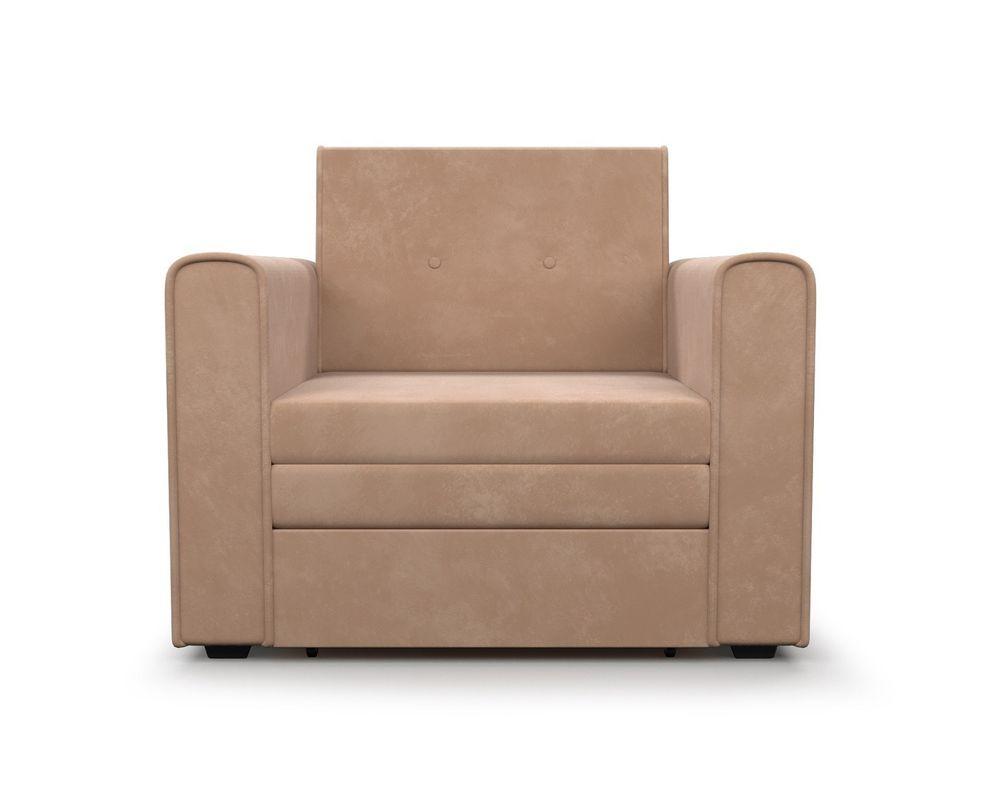 Кресло Мебель-АРС Санта (велюр бежевый - Luna 061) - фото 3