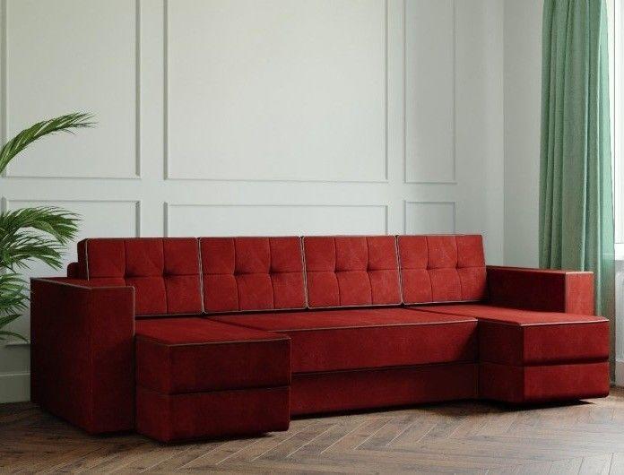 Диван Настоящая мебель Ванкувер Модерн (модель: 00-00000041) бордовый - фото 1