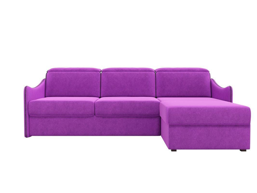 Диван ЛигаДиванов Скарлетт 125 угловой правый 60677 вельвет фиолетовый - фото 3