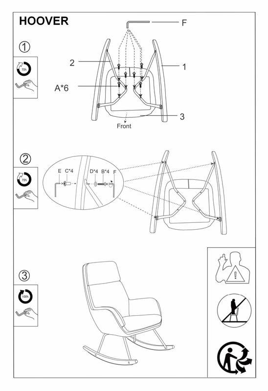 Кресло Signal HOOVER VELVET (серый) - фото 2