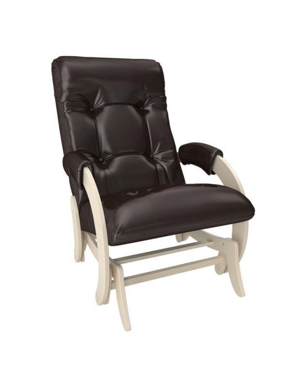 Кресло Impex Кресло-гляйдер Модель 68 экокожа сливочный (oregon 120) - фото 1