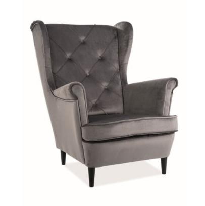 Кресло Signal Lady Velvet Bluvel 14 (серый) - фото 1