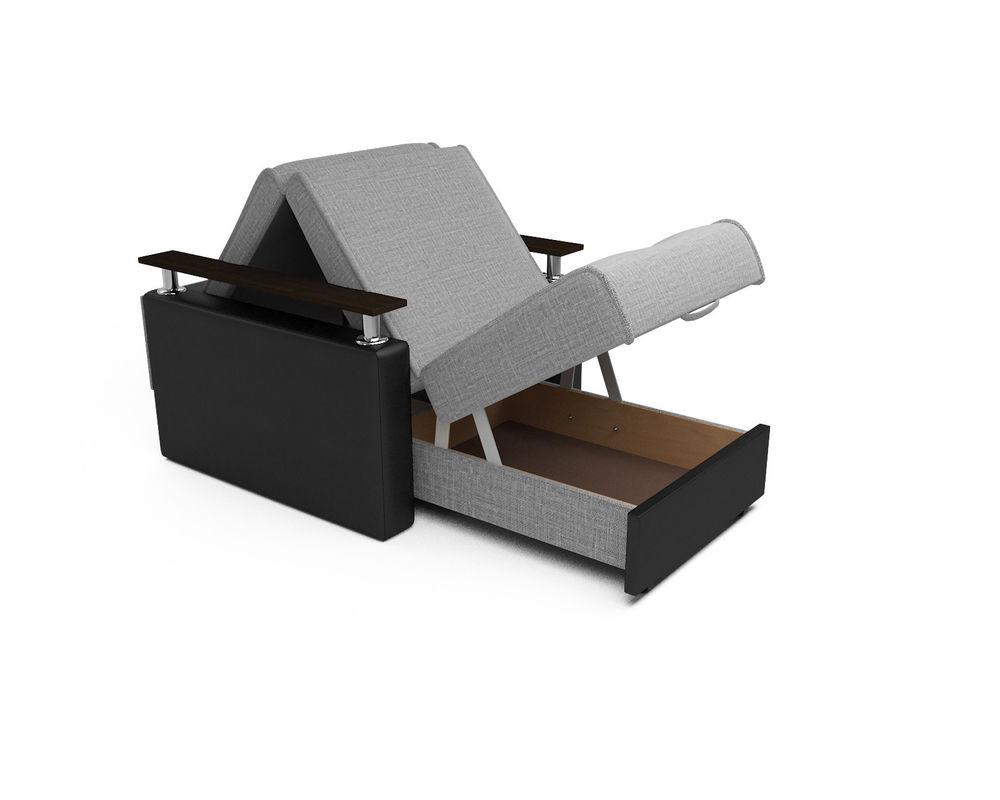 Кресло Мебель-АРС Шарм - Grey (рогожка + экокожа) - фото 5