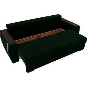 Диван ЛигаДиванов Брион велюр зеленый, подушки бежевые - фото 4