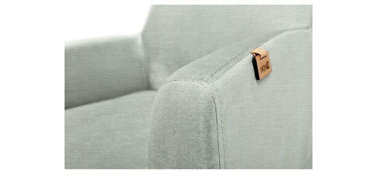 Кресло WOWIN Айленд (Пастельно-голубая рогожка) - фото 3