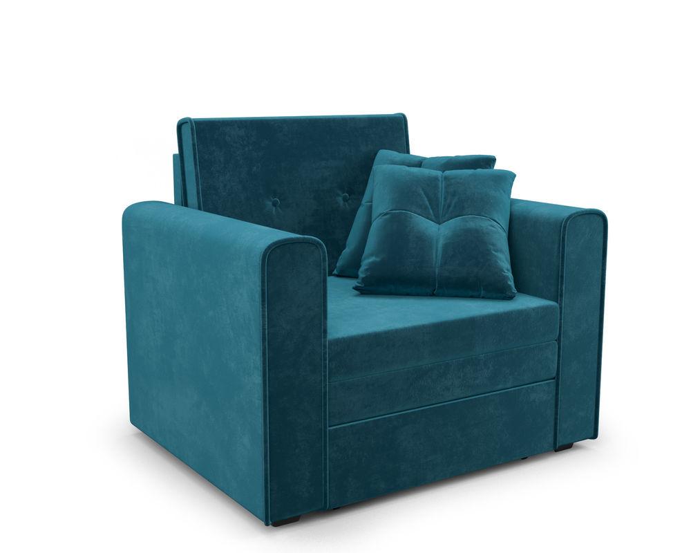 Кресло Мебель-АРС Санта (бархат сине-зеленый) - фото 1
