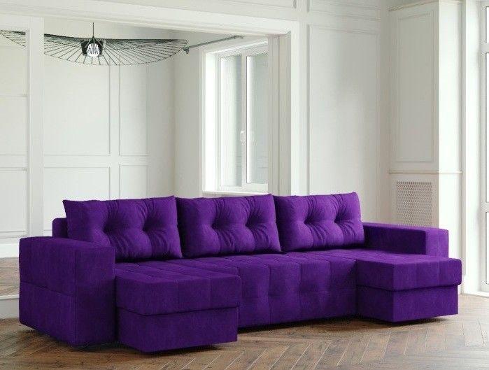 Диван Настоящая мебель Ванкувер Мейсон (модель: 00-00000069) фиолетовый - фото 1