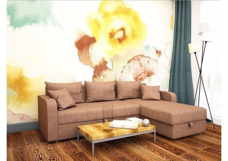 Диван Раевская мебельная фабрика Угловой в рогожке Коричневая 00471 - фото 1