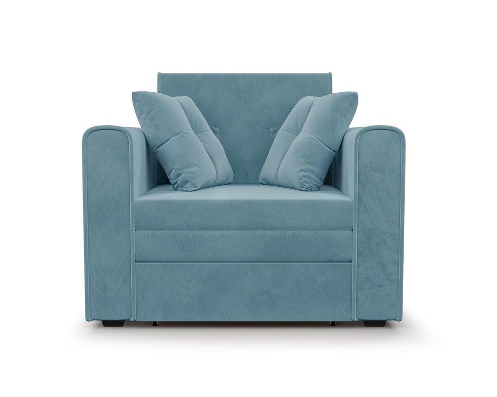 Кресло Мебель-АРС Санта (велюр голубой - Luna 089) - фото 2