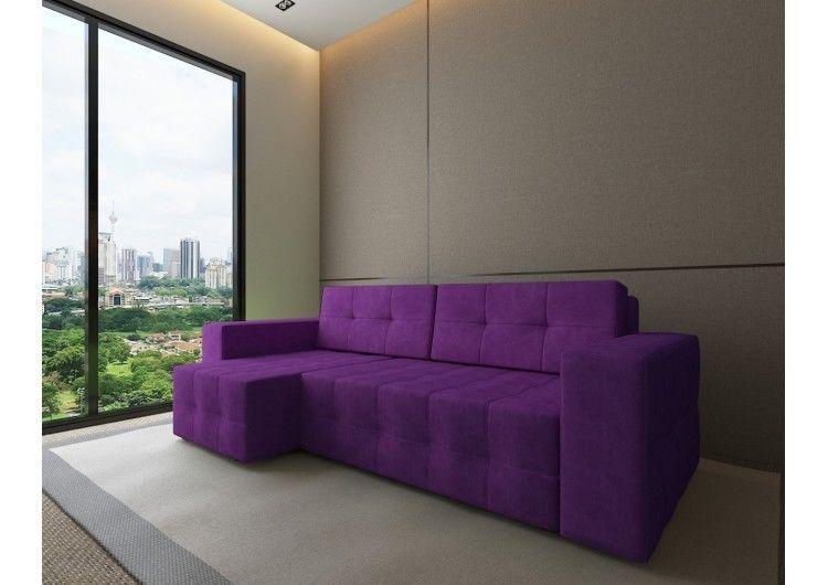 Диван Настоящая мебель Константин Питсбург угловой фиолетовый - фото 1