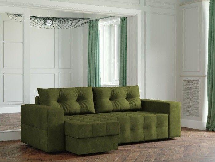 Диван Настоящая мебель Ванкувер Мейсон (модель: 00-00003441) зеленый - фото 1