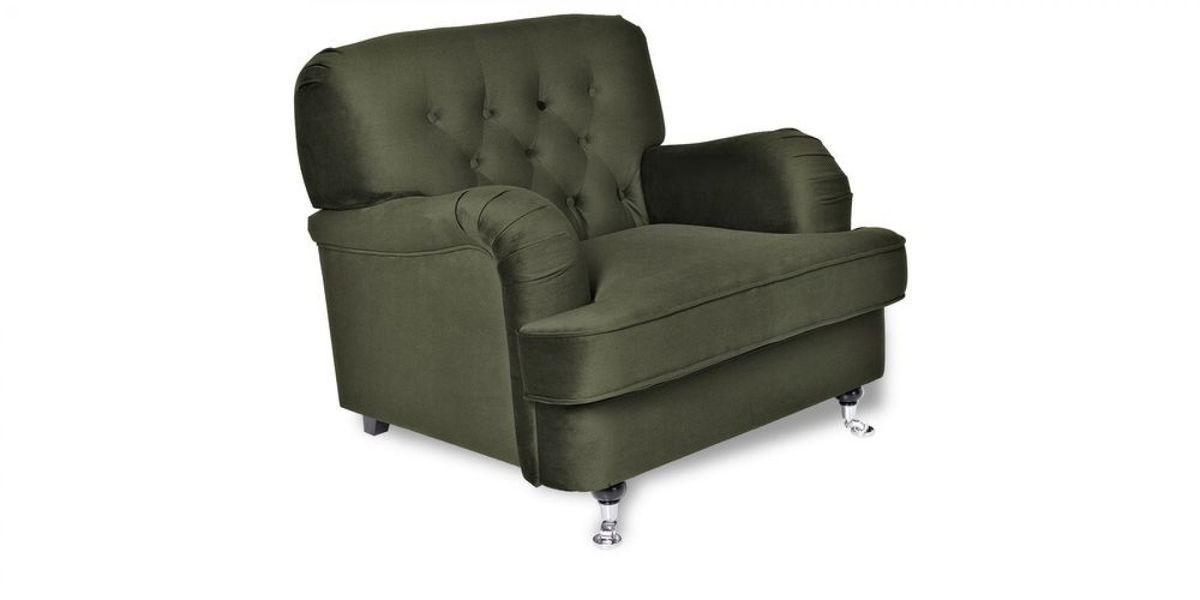 Кресло WOWIN Фулхаус (Кофейно-серый велюр) - фото 1