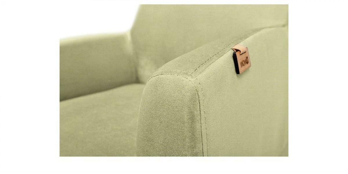 Кресло WOWIN Айленд (Серо-бежевая микророгожка) - фото 3