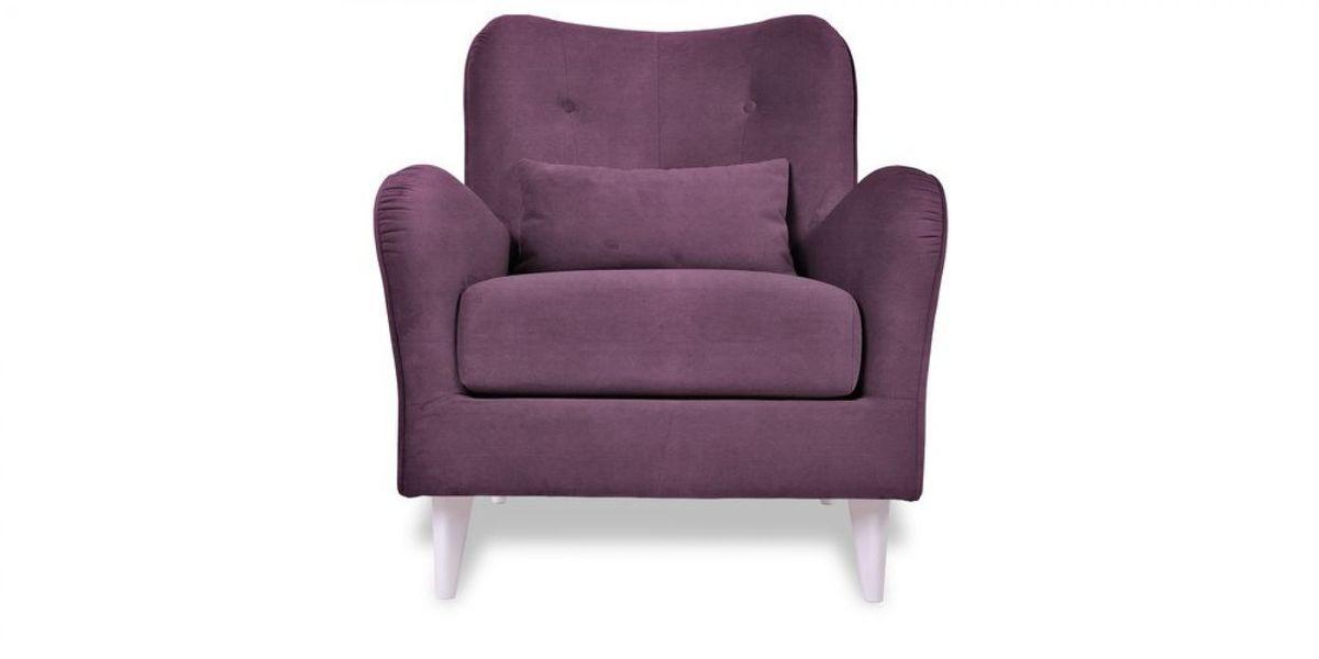Кресло WOWIN Амели (Темно-фиолетовый велюр) - фото 2