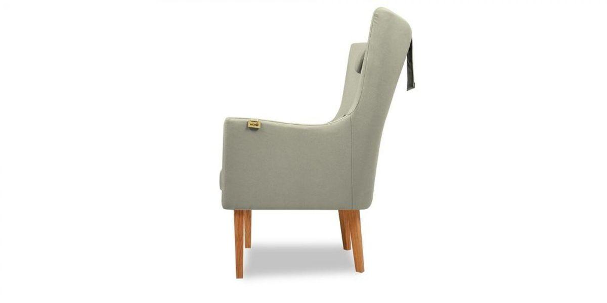 Кресло WOWIN Элеганза высокое (Серебряный микровелюр) - фото 3