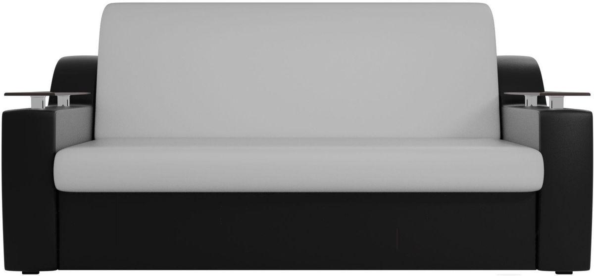 Диван Mebelico Сенатор 100724 160, экокожа белый/черный - фото 1
