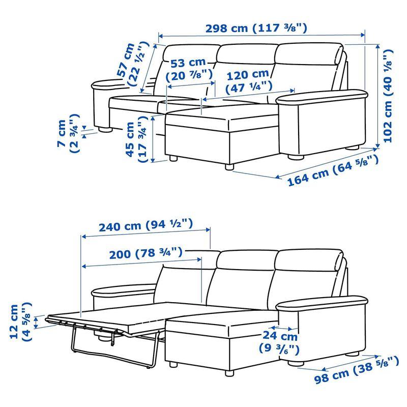 Диван IKEA Лидгульт золотисто-коричневый [692.660.83] - фото 7