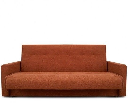 Диван Луховицкая мебельная фабрика Милан (Астра светло-коричневый) пружинный 120x190 - фото 2
