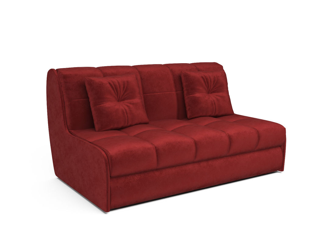 Диван Мебель-АРС Аккордеон Барон №2 (бархат красный  STAR VELVET 3 DARK RED) - фото 1