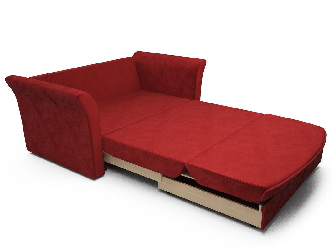 Диван Мебель-АРС Малютка №2 (бархат красный  STAR VELVET 3 DARK RED) - фото 7
