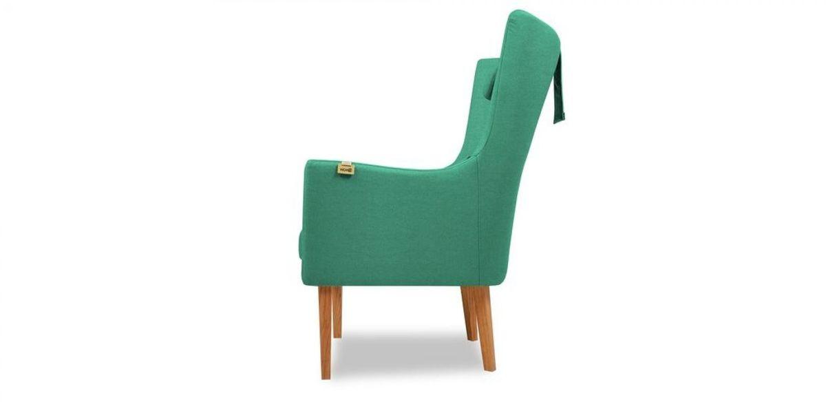 Кресло WOWIN Элеганза высокое (Бирюзово-голубая микророгожка) - фото 3
