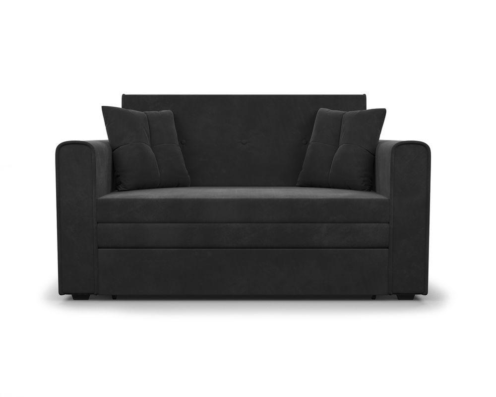 Диван Мебель-АРС Санта (НВ-178/17 / велюр черный) - фото 2