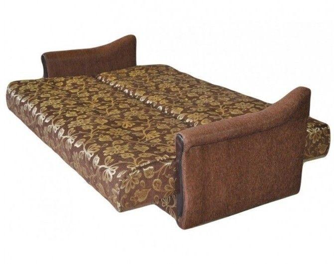 Диван Луховицкая мебельная фабрика Уют коричневый (120x190) пружинный - фото 2