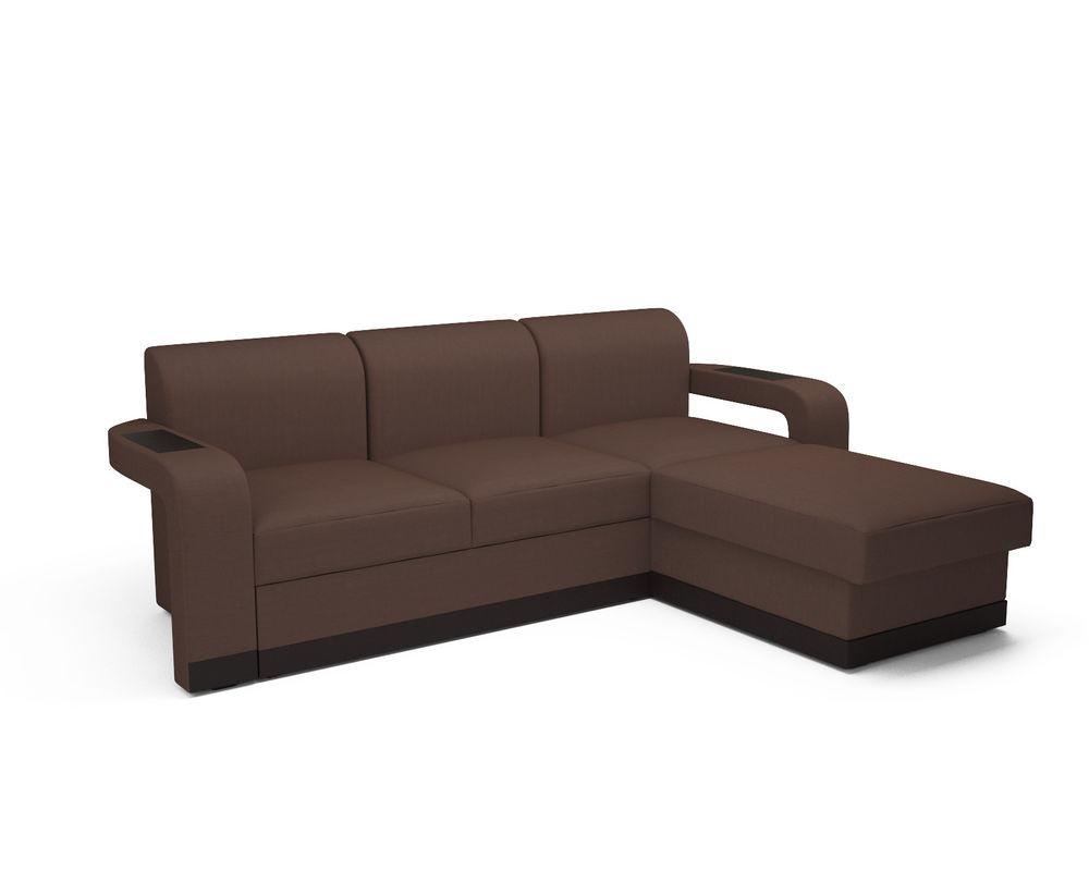 Диван Мебель-АРС Сенатор (рогожка шоколад) - фото 1