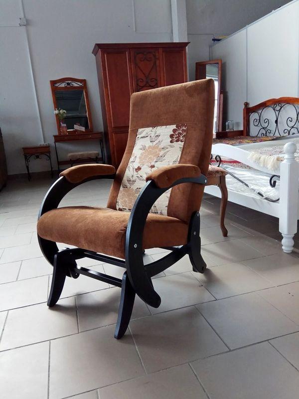 Кресло Бастион 1М глайдер (pearl 108 +цветы) - фото 1
