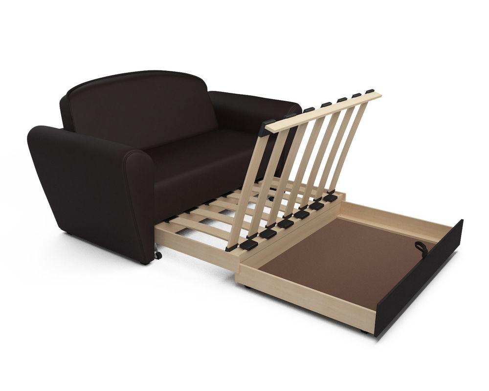 Диван Мебель-АРС Квартет шоколад экокожа - фото 5