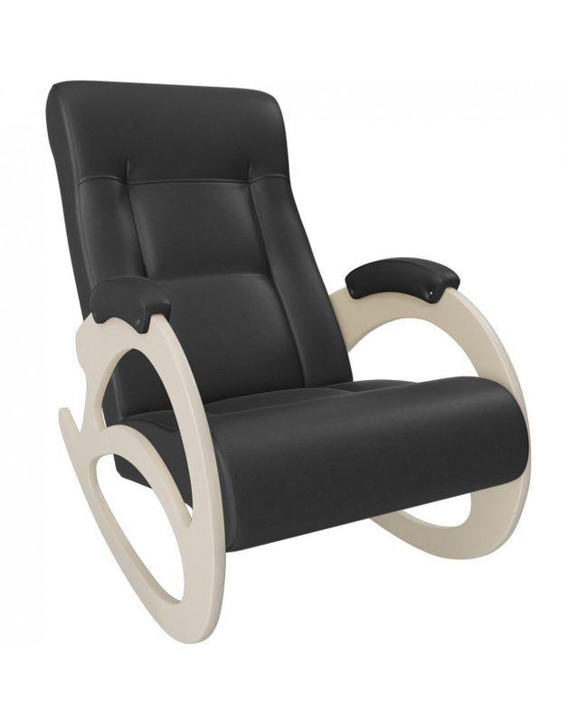 Кресло Impex Модель 4 б/л сливочный экокожа (dundi 109) - фото 1