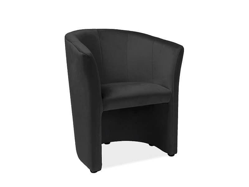 Кресло Signal TM-1 Velvet Bluvel 19 (черный) TM1V19 - фото 1