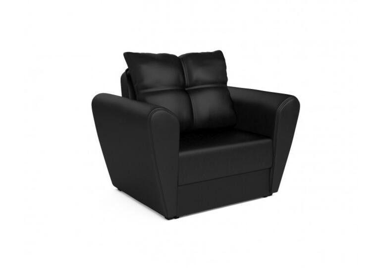 Кресло Craftmebel Квартет - экокожа черная - фото 1