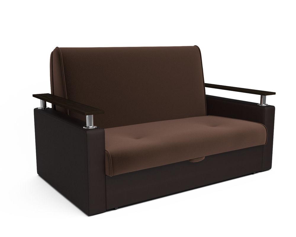 Диван Мебель-АРС Шарм — шоколад (140х195) - фото 1