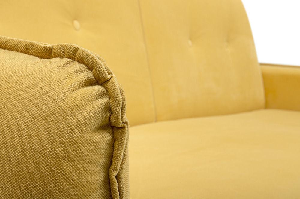 Диван Woodcraft Стаус Velvet Yellow - фото 9