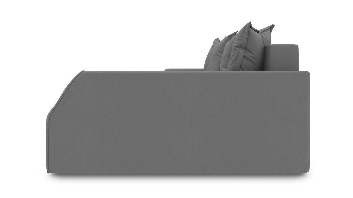 Диван ТриЯ правый «Люксор Slim Т2» (Neo 12 (рогожка) коричневый) - фото 3