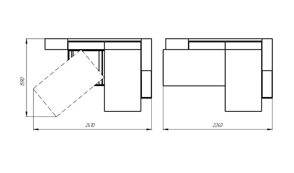 Диван LAMA мебель Пингвин 2/20 (угловой) - фото 5