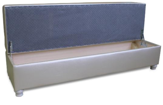 Пуфик Экомебель Милан с нишей для хранения (ткань склад) - фото 3