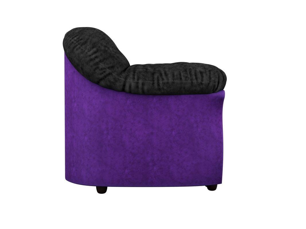 Диван ЛигаДиванов Карнелла 114 60398 велюр черный/фиолетовый - фото 3