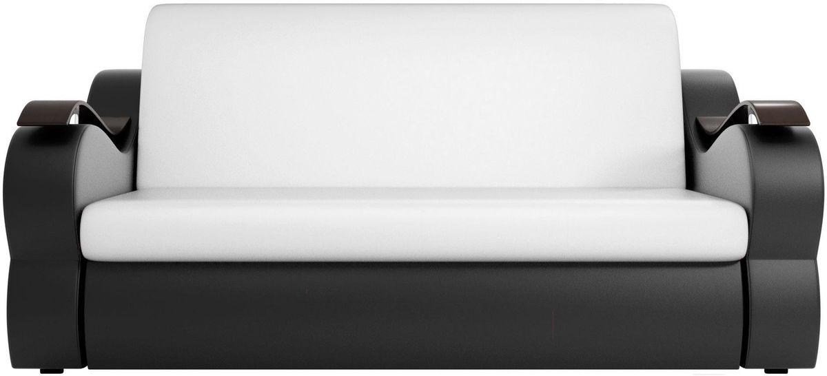 Диван Mebelico Меркурий 222 120, экокожа белый/черный - фото 1