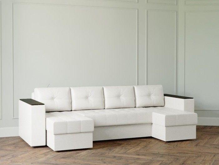 Диван Настоящая мебель Ванкувер Лайт с декором (модель: 2222) белый - фото 1