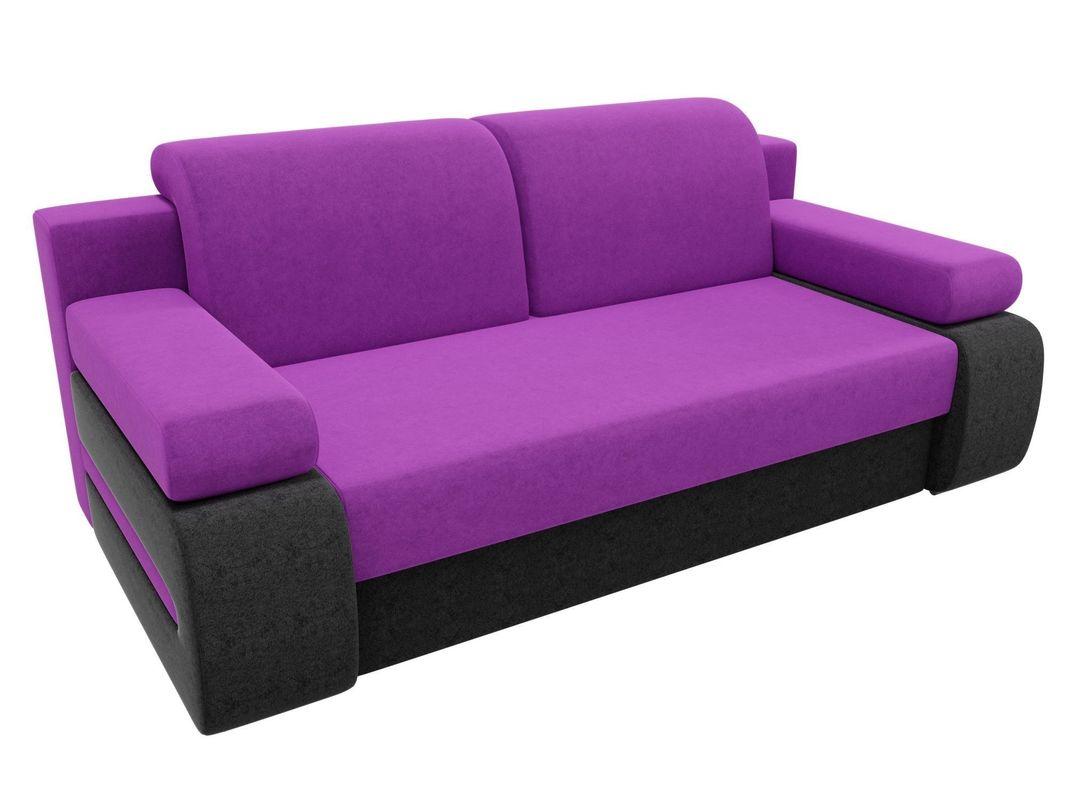 Диван ЛигаДиванов Денвер вельвет фиолетовый/черный - фото 2