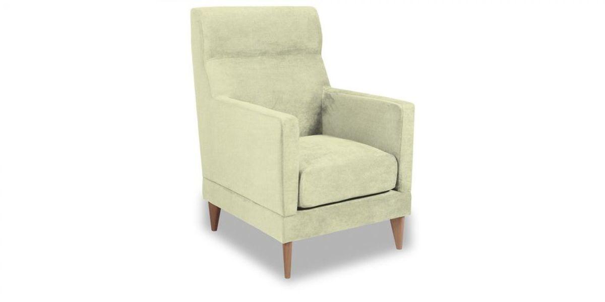 Кресло WOWIN Полар высокое (Молочный велюр) - фото 1