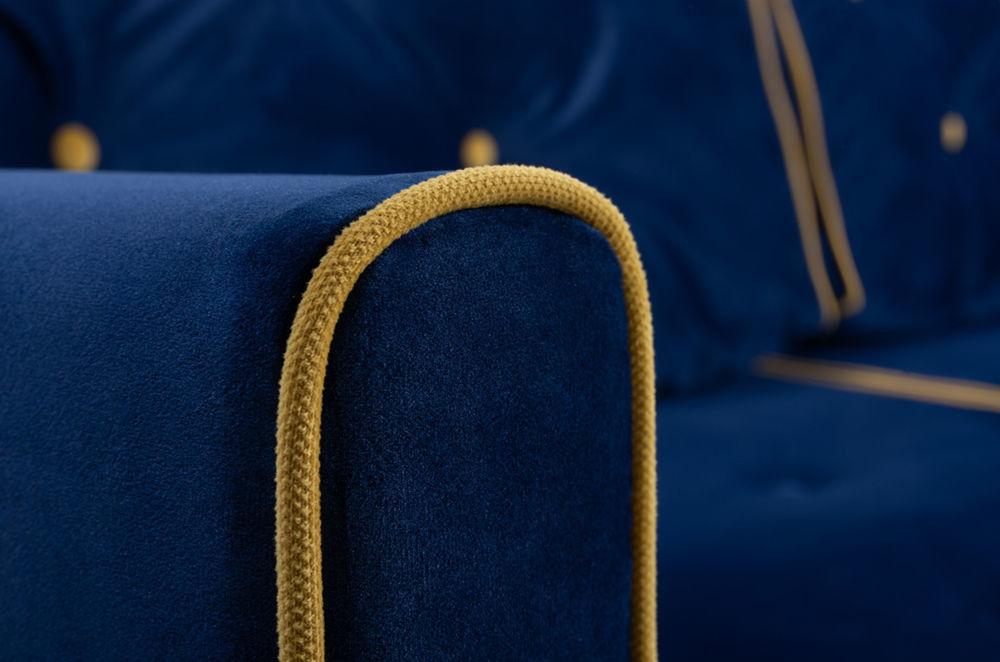 Диван Woodcraft Харлем Barhat Blue - фото 9