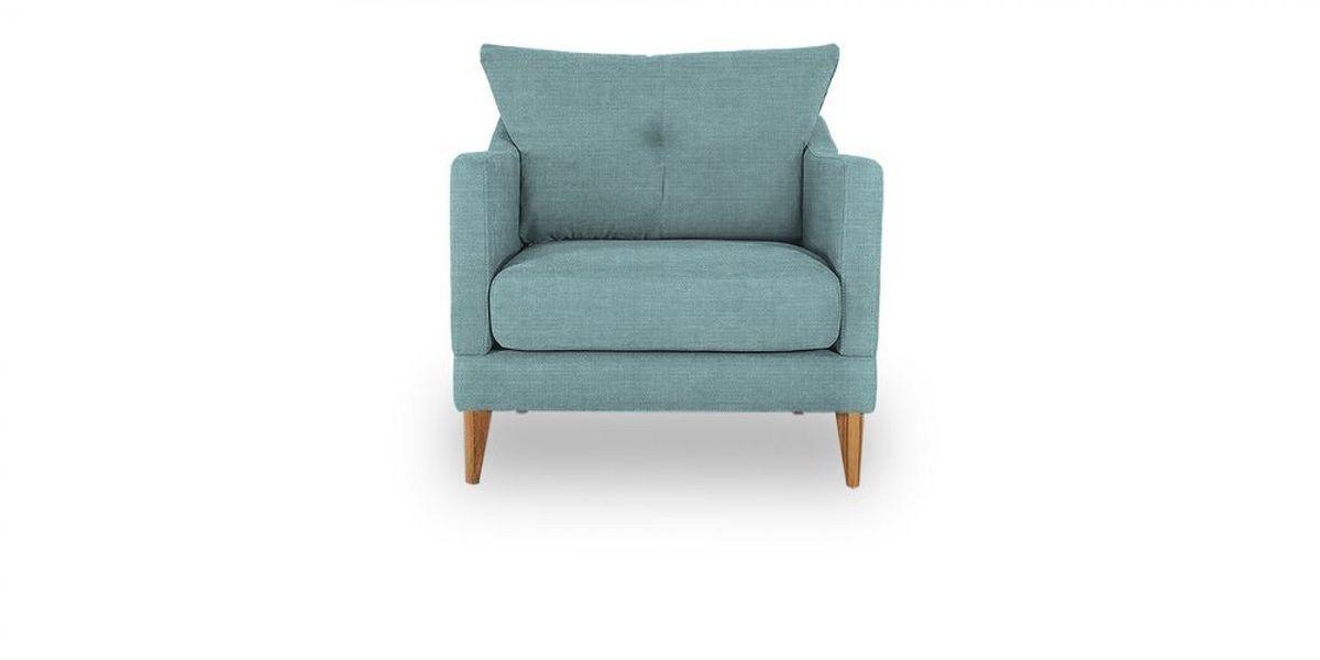 Кресло WOWIN Полар (Бледно-васильковая рогожка) - фото 2