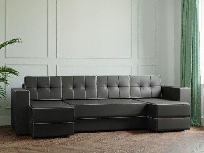 Диван Настоящая мебель Ванкувер Модерн (модель: 00-00000047) экокожа/серый - фото 1